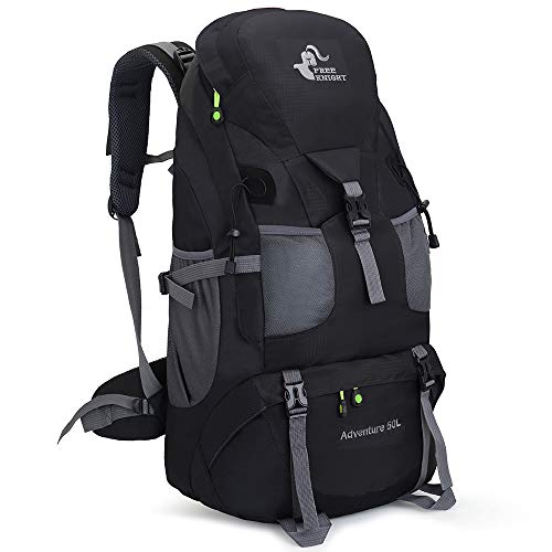 50L Ultra Lightweight Frameless Hiking Backpack,Outdoor Sport Daypack Travel Bag for Climbing Camping Touring Mountaineering Fishing (Black)