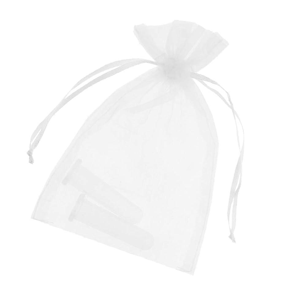 ネコ桁私たちBaoblaze シリコンカッピング吸い玉 真空カッピング デトックス マッサージカップ 収納ポーチ付き顔用2個全2色 - ホワイト