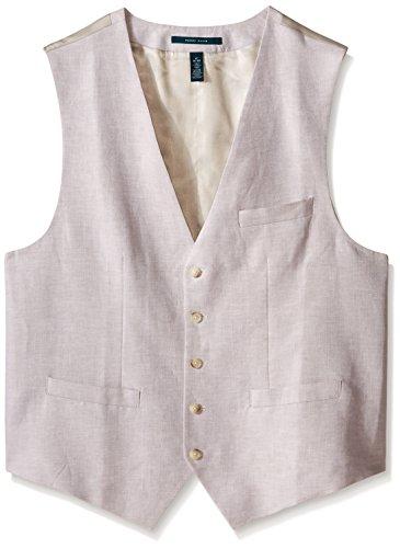 Perry Ellis Men's Big-Tall Suit Vest, Natural Linen, 3X-Large/Tall