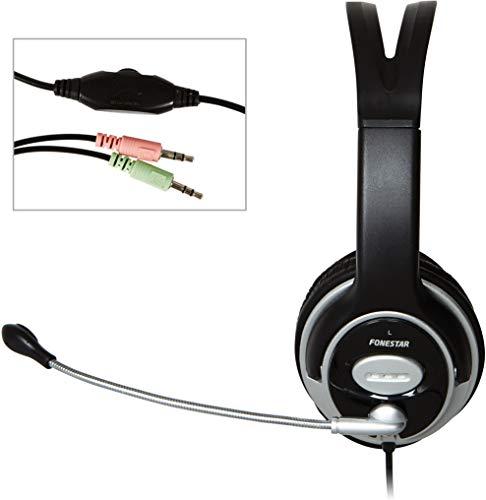 Auricular Estéreo + Micrófono PC Fonestar