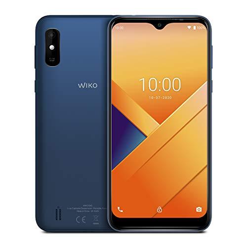 "WIKO Y81 - Smartphone 4G de 6,2""HD+ (4000mAh para dos días de uso, memoria de 32GB, cámara trasera de 13MP, Desbloqueo Facial, Dual SIM, Quad Core 1,8GHz, 2 GB de RAM, Android 10 Go Edition) Deep Blue"