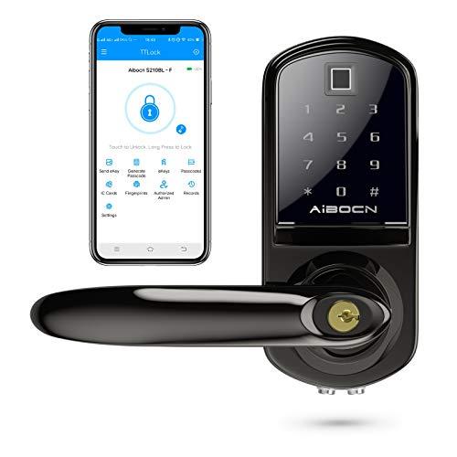 Aibocn Fingerprint Smart Lock, Keyless Entry Door Lock with Bluetooth, Touchscreen Keypad Deadbolt...