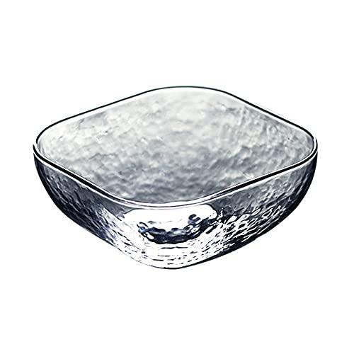 ETDWA Ciotola di miscelazione di Vetro, Insalata Trasparente per la Fornitura di Tutte Le Ciotole per porzione, Facile da Pulire, Ottimo per Cucinare, cuocere, preping,12.7cm
