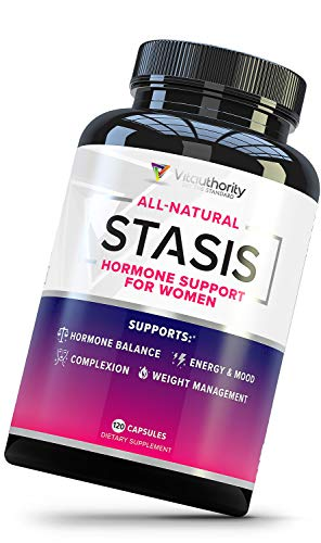 Stasis Estrogen Support Supplement for Women: PCOS, PMS, Perimenopause and Menopause Relief - DIM Supplement with Grape Seed Extract, Folate, Myo-Inositol and D-Chiro Inositol for Estrogen Balance