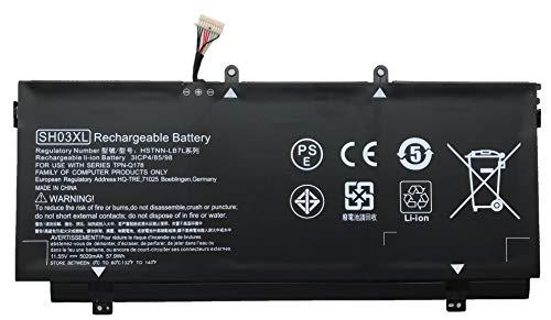 BOWEIRUI SH03XL HSTNN-LB7L 859026-421 (11.55V 57.9Wh 5020mAh) Laptop Battery Replacement for Hp Spectre X360 13-AC033DX 13-W013DX Series Notebook CN03XL 901308-421 859356-855 TPN-Q178 (Connector-30MM)