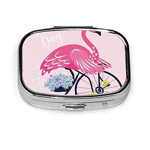 JOJOshop - Pastillero cuadrado con diseño de flamenco con gafas de sol