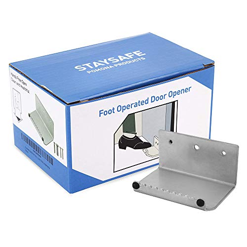 Touchless Door Opener - Foot-Operated No-Contact Pedal Door Opener - Hands Free for Easy Open -...