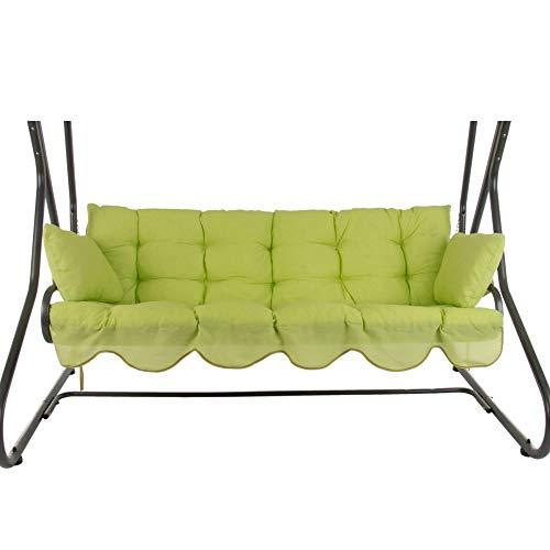 PATIO Auflagen Set Bora 170 cm für Hollywoodschaukel Polsterauflage Sitzkissen Rückenkissen Seitenkissen Gesteppt H027-12PB