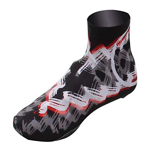 LUCHONG Cubierta térmica de zapatos de bicicleta resistente al agua, fundas impermeables para zapatos de ciclismo, overshoes Sundried Ciclismo mejor para verano, M