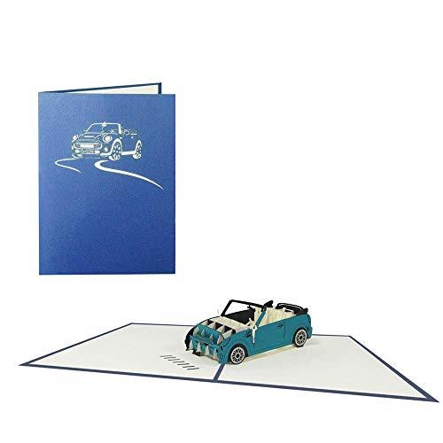 Auto Pop Up Karte Cabrio Geburtstagskarte Fahrzeug Glückwunschkarte Geschenkkarte Führerschein Glückwunsch Gutschein - Auto 002