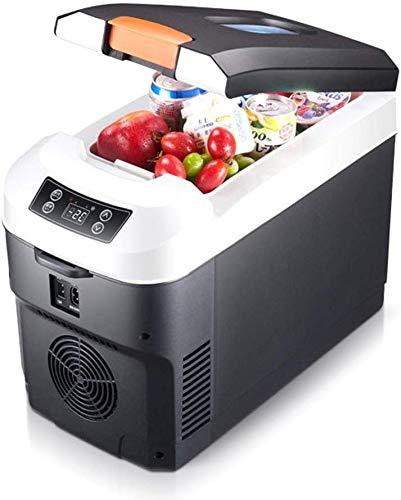 LLYU 12V / 24V / 220V portátil congelador del refrigerador del refrigerador, de 10 litros de doble núcleo Refrigeración Refrigerador compacto, for el coche, camión, la medicina La leche materna refrig