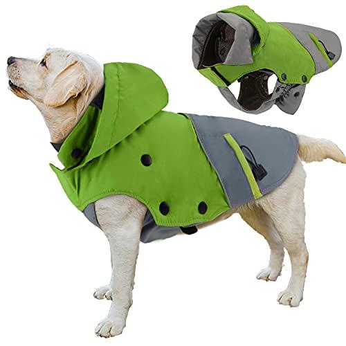 PETLOFT Giacca Invernale per Cani, Impermeabile Riflettente Invernale per Cani Cappotto Invernale Impermeabile per Cani Resistente all'Acqua Invernale con Fodera in Pile Rimovibile
