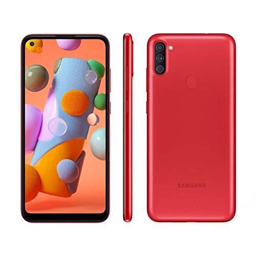 Telefone Smartphone Celular Samsung a11 Vermelho 64GB 3Ram Tela 6.4' Envio Brasil Modelo Nacional