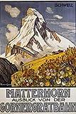 AZSTEEL Matterhorn Travel Poster by Francois Gos