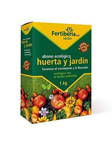 Fertiberia Abono Huerta y Jardín 1 kg. Fertilizante ecológico, Marron
