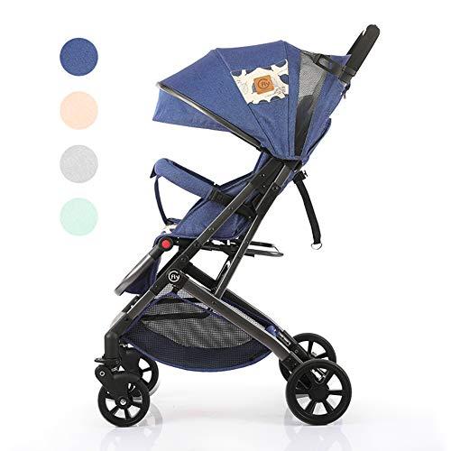 Poussette Canne légère - Parapluie Pliant Compact - Poussette Pratique - Voyage en Avion - Siège inclinable - Pliage à Une Main - du bébé au Bambin de 0 à 36 Mois