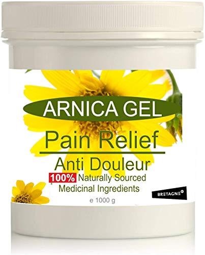 Gel de Árnica Montana 90% 1000 g Remedio herbal 100% Natural Aliviar los daños Deporte