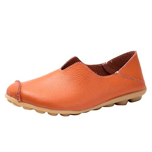 Fannyfuny Zapatos Mujeres Mocasines sin Cordones de Punta Tedonda de Color Liso Casuales Zapatos de Trabajo de Planos Sencillos Guisantes Náuticos