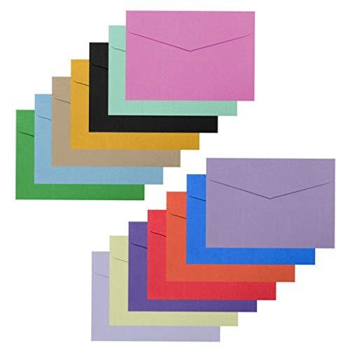 Peerless 140 sobres de varios colores para negocios, para oficina, cheques, facturas, cartas, correos, invitaciones de boda, sobres de fotos de tarjetas de regalo, 14 colores, 11,5 x 8 cm
