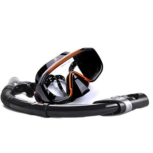 MKAI-DM Sport Schnorcheln Tauchmaske Silikonmaske Schwimmbrille Anti-Fog und dicht für Erwachsene und Jugendliche,Black