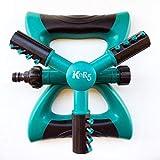 KeyR5 Garden Sprinkler Automatic 360 Rotating Lawn Irrigation System, Green