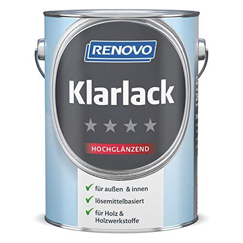 Renovo farbloser Klar-Lack in hochglanz 2,5 l für innen und außen