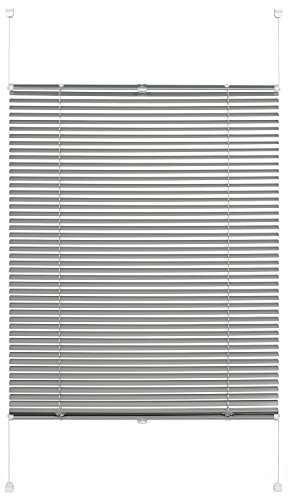 Gardinia Persiana de Aluminio para Fijar, protección Visual, luz y antideslumbrante, Todas Las Piezas de Montaje Incluidas, persiana de Aluminio Easy Move, Plata, 50 x 130 cm (Ancho x Alto)