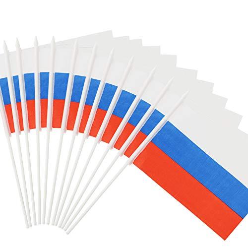 Vlag van Rusland, ANLEY Russische 5 x 8 inch (12 x 20 cm) Mini-vlag met 12