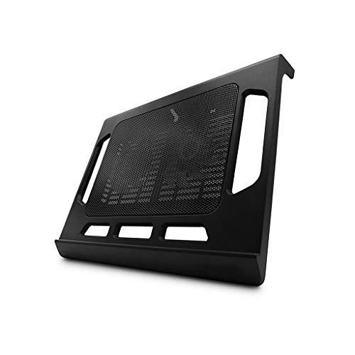 Professionelle ultraleichte, stille Dual-Lüfter-Laptop-Kühler-Kühlkissenstativ, Umgebungs-LED, 9
