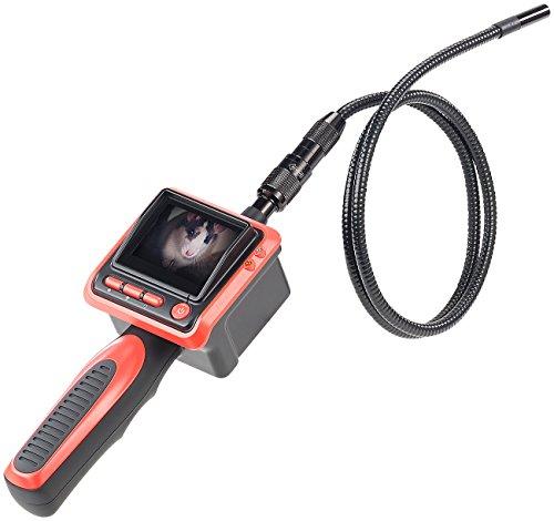 Somikon Kanalkamera: Endoskop-Kamera m. Farb-LCD-Display & LED-Licht, Batteriebetrieb, IP67 (Endoskopkameras)