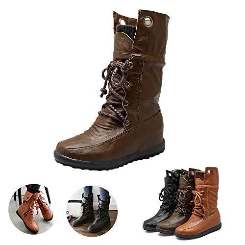 Bottines Femme Woman Boots Bottes Fille39 41 42 43 Bottes Femme Cuir Marron Talon Palladium Noir Haut mi Mollet Soldes Pluie Caoutchouc a Hiver Bottes Classiques Mixte Adulte