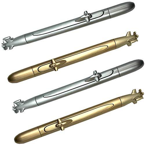 Maydahui 8PCS Submarine Ballpoint Pens Black Ink Creative Spacecraft Shape Pen Toy Model Design for Navy Children Party
