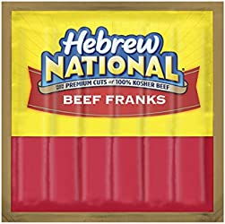 Hebrew National Beef Franks, Hot Dogs, 6 Count
