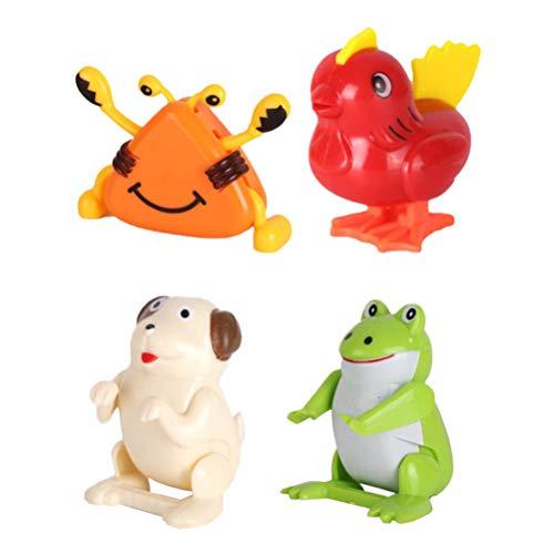 Toyvian Wind Up Tier Küken Frosch Uhrwerk Spielzeug für Ostern Geburtstag 4 stücke (zufällige Muster)