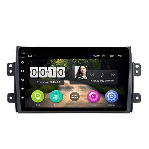 Reproductor Multimedia De Navegación GPS Estéreo para Coche para 2010-2016 Suzuki Sx4 9 Pulgadas Android 8,1 Enlace Espejo SWC WiFi Sin DVD(Color:4G+WiFi:1+16G)