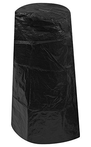 Woodside Outdoor Garden Chiminea Cover, Black, 1.02m x 0.39-0.62m/3.3ft x 1.25-2ft