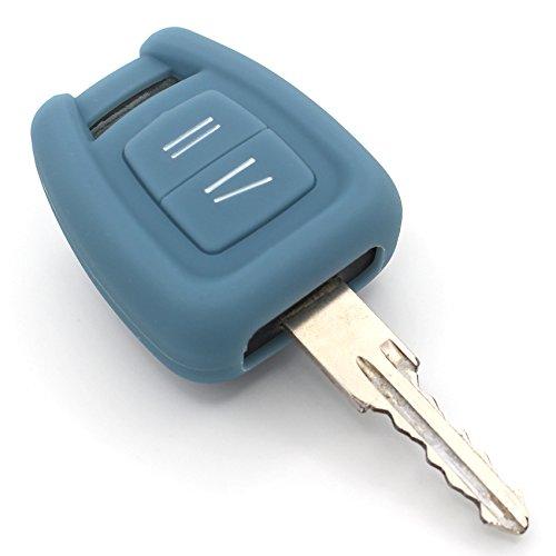 Coque en silicone Finest-Folia - Pour clé de voiture à 3 boutons Gris cendre