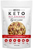 Low Karb - Keto Vanilla Strawberry Nut Granola Healthy Breakfast Cereal - Low Carb Snacks & Food - 3g Net Carbs - Gluten Free, Grain Free - Almonds, Pecans, Coconut and more (11 oz) (1 Count)