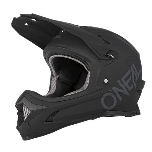 O'NEAL | Mountainbike-Helm | MTB Downhill | Nach Sicherheitsnorm EN1078, Ventilationsöffnungen für Luftstrom & Kühlung, ABS Außenschale | SONUS Helmet SOLID | Erwachsene | Schwarz | Größe M