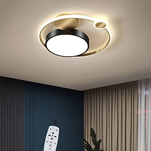 YUNZI Ø45CM Moderno Lámpara de Techo con Mando a Distancia, Creatividad Atenuación Luces de Techo LED 41W 3280LM Regulable Lámpara de Techo por Sala Cuarto Oficina Cocina Encendiendo,A