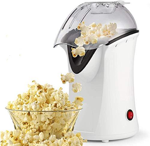 Hopekings Machine à Pop Corn 1200W, Air chaud sans huile avec Tasse à mesurer et Housse détachable, Blanc