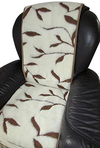 Alpenwolle Sesselschoner Zweige, 50x200 cm, Sesselschoner, Sesselauflage, 100% Wolle