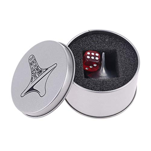 GHBOTTOM Spinning Top, Spinning Top, Inception Totem Zinc Alloy Silver Spinner Toy Réplica precisa Dados y caja de regalo