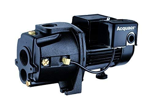 Acquaer 1 HP 11.5 GPM Dual-Voltage Cast Iron Convertible Deep Well Jet Pump With Injector kit