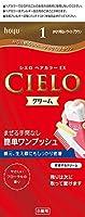 ホーユー シエロ ヘアカラーEX クリーム 1 (かなり明るいライトブラウン) 1剤40g+2剤40g [医薬部外品]
