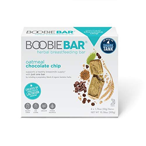 Boobie Bar Superfood Breastfeeding Bar, Oatmeal Chocolate Chip, [1.7 Ounce Bars,...