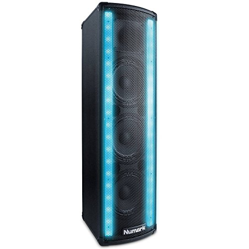 Numark Lightwave | 2-Way DJ Speaker with Beat Sync'd LED Lights (200W Class D Power)