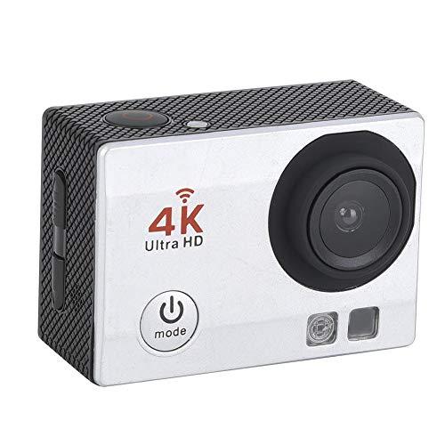 lahomie Cámara de Accion Sumergible Acuática, Videocámara Ultra 4K HD WiFi de Alta Definición 1080P Cámara de Acción Deportiva Resistente al Agua Cámara Sumergible Acuática 30m Impermeable (Blanco)