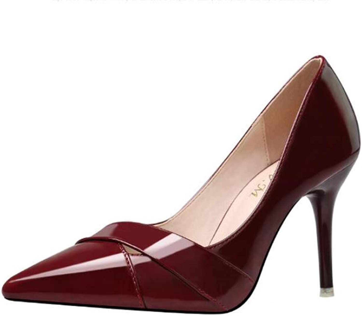 Meimeioo Womens Pointed Toe High Heels Slip On Stiletto Pumps Wedding Party Basic shoes