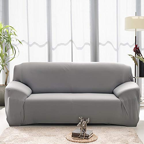 WXQY Fundas de Color Liso elástico elástico Funda de sofá Antideslizante Funda de sofá para Mascotas Esquina en Forma de L Funda de sofá Antideslizante A24 4 plazas